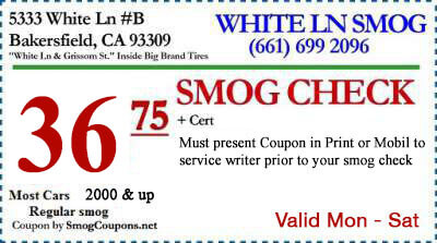 Smog Check Services 36 75 Discount Smog Check Bakersfield White